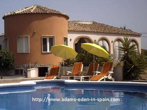 Adams Eden In Spain is a gay male naturist B&B guest house in the Costa Blanca - Alicante area, Spain.