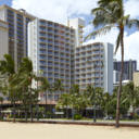 Across from Waikiki Beach and offering stunning views of Diamond Head and the Pacific Ocean, this completely non-smoking Honolulu hotel offers easy access to major attractions along with a number of thoughtful amenities.