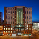 Centrally located in downtown Denver, this eco-friendly all-suite hotel is located across the street from the Colorado Convention Center.
